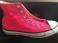 Bright pink converse 6uk adult