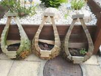 3 large wooden wall planters £7 EACH
