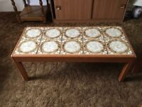 Teak Coffee Table with tile top