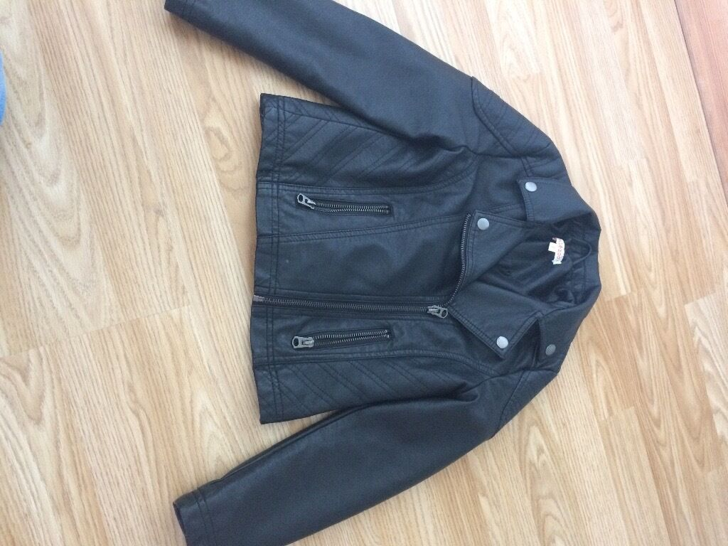 Leather jacket age 8in Southside, GlasgowGumtree - Girls leather jacket from debhamans age 8 biker look only worn a few times in excellent condition
