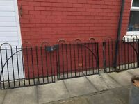 Black iron gates