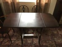 Dining Table, Ercol, Oval Dropleaf and 5 Chairs