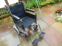 LIGHTWEIGHT FOLDING WHEELCHAIR GOOD CONDITION CAN DELIVER