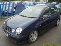 VW POLO 1198cc 5 DOOR HATCH 2003-03, DARK METALIC BLUE,