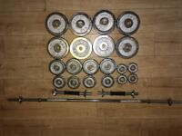 £90 for 70 KG York Chrome Set Dumbbells (2x10kg) Weight Plates (8x5kg) Weight bar 6xSpinlock £60 OFF