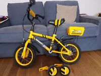 Kids bike age 3-6 halfords very good condition with or without stabilisers
