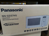 BRAND NEW PANASONIC GRILL MICROWAVE*1000W POWER*STAINLESS STEEL*6 POWER LEVELS* 23LITRE