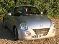 Daihatsu copen roadster 659 turbo, low miles, great summer car with a folding electric hardtop.