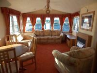 Double Glazed-Central heated Static Caravan For Sale with 2017 fees already paid open 12 months