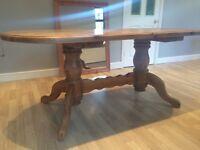 Double Pedastool Dinning Table. Solid Wood