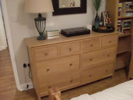 Large Modern Oak Chest of Drawers