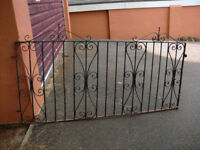 Wide wrought-iron gate , fixings not included