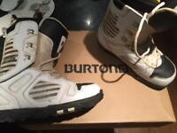 Burtons Boots & Bindings Size 10 UK Snowboarding