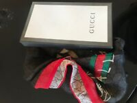 Gucci womens shawl scarf - reversible