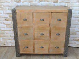 9 Drawer Huge Unique Merchant Chest of Drawers (Delivery)