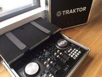 Traktor S4 Mk2 Controller with Flight Case * DJ Midi Interface Audio *