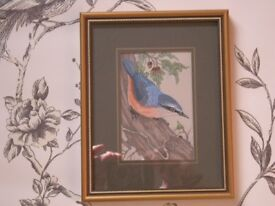 NUTHATCH - CASH'S WOVEN FINE SILK PICTURE