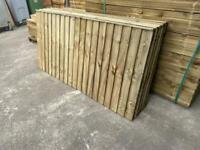 🌞 Heavy Duty Straight Top Wooden Garden Fence Panels - New