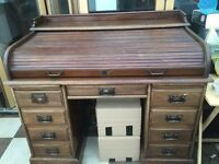 Roll top Desk (1920's) used & preloved really lovely few signs of wear, space needed
