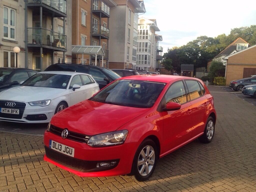 2013 volkswagen polo match edition red 11 000 miles only. Black Bedroom Furniture Sets. Home Design Ideas