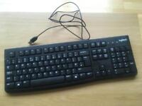 2 x Logitech Computer Keyboard and Mouse
