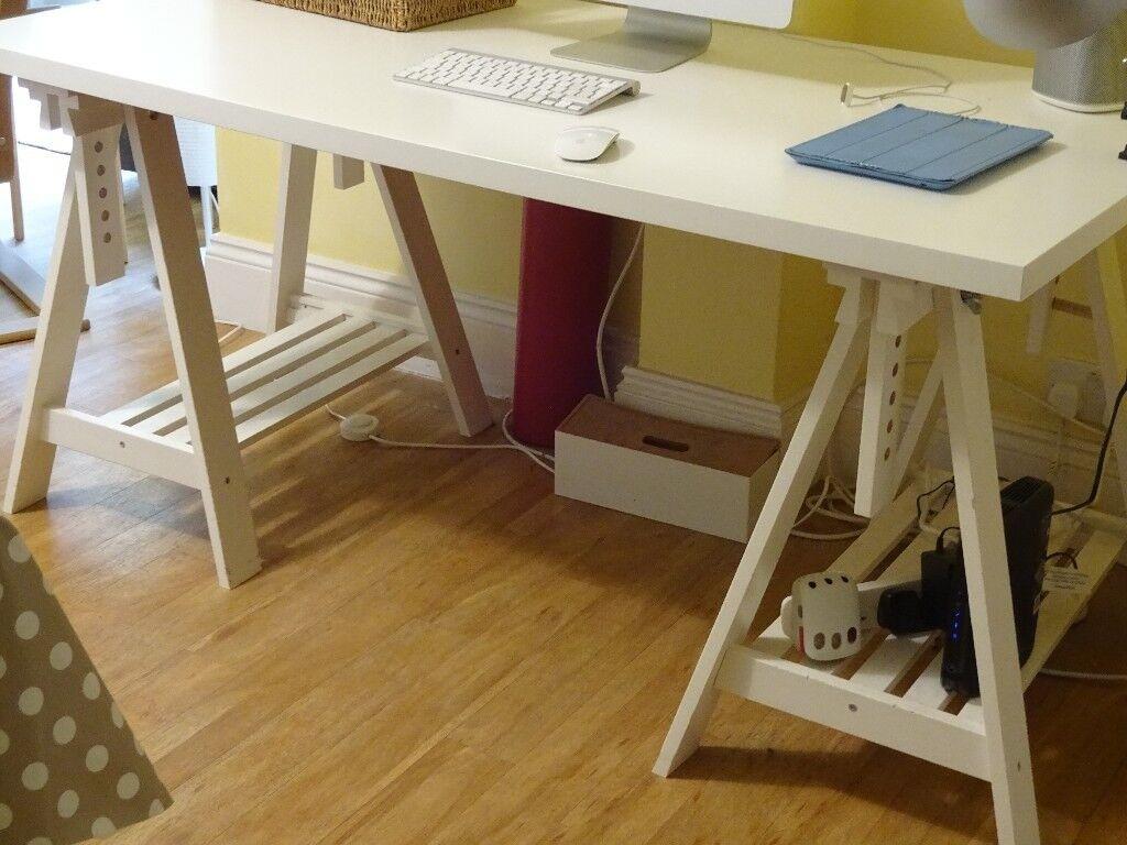 Ikea finnvard linnmon trestle desk in hampstead london gumtree