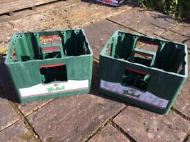 2 Grolsh bottle crates