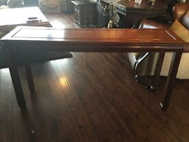 Solid Rosewood console table.