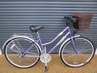 """LADIES OPTIMA TOWN / SHOPPING BIKE IN EXCELLENT LITTLE USED CONDITION.. (17"""" / 43cm. FRAME).."""