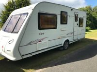 Elddis avante 505/5 berth 2007 motor mover Cassette toilet and shower
