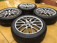"Genuine 17"" BMW Mini JCW Challenge R112 Alloy wheels & Brand New Tyres"