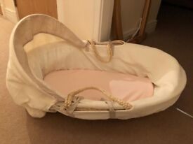 Lovely Moses Basket - Barely Used