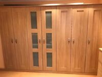 Fitted wardrobes, chest and bedside cabinets American oak