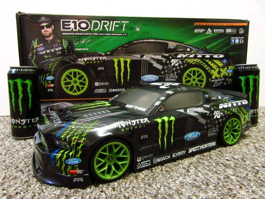 Rc Car Hpi Drift Vaughn Gittin Jr Monster Energy Mustang