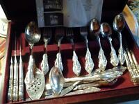 community silver plate cutlery set