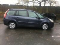 2007 Citroen c4 Grand Picasso 1.6 Hdi Vtr plus 7 Seater diesel,LOW MILEAGE 89K,LONG MOT,2KEYS