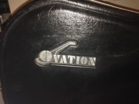 guitar case. fitted ovation hard case.