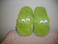 Slippers Green Monster Ladies Brand New