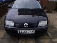 Vw Bora 1.6S, 2003. 4 dr, black metallic. Very good condition. £400 ono