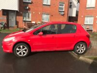 Peugeot 307 2005 M.O.T till 5/11/18 Diesel, electric fold in mirrors, good condition for year