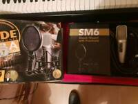 Rode mic with SM6 shield