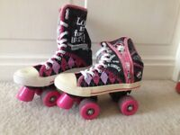 Monster high girls roller skates size 5