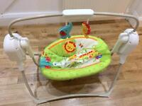 Fisher price electric rainforest cradle baby swing