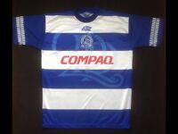 """QPR Football Shirt """"Compaq"""" '94-'95 season. 34""""-36"""""""