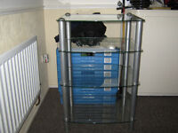 four tier glass stand for sale