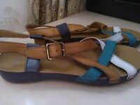 Clarks three coloured leather sandals BRAND NEW!!