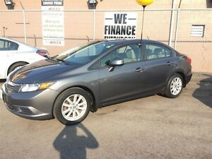 2012 HONDA CIVIC EX-L- LEATHER INTERIOR, HEATED SEATS, SUNROOF,