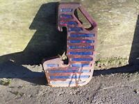 Old style tractor front weight