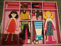 Melissa and Doug Magnetic Wooden Dress Up Dolls