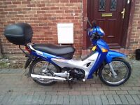 2006 Honda Innova ANF 125 motorcycle, new 12 months MOT, good condition, low miles, top box,